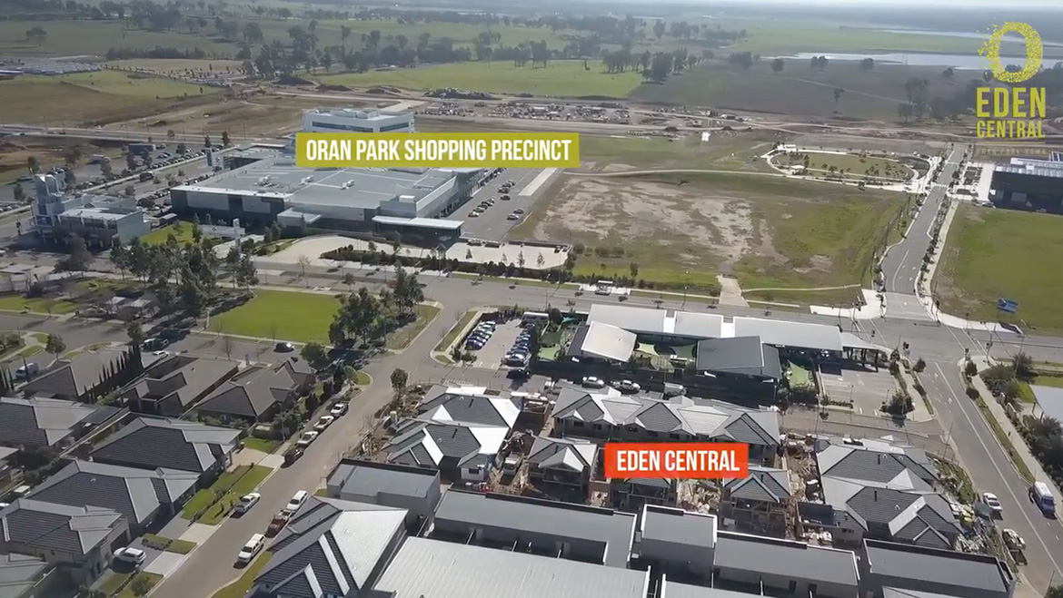 eden central drone video slide